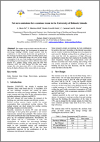 Artikel Dr. Andreu Moia - Net zero emissions for a seminar room in the University of Balearic Islands